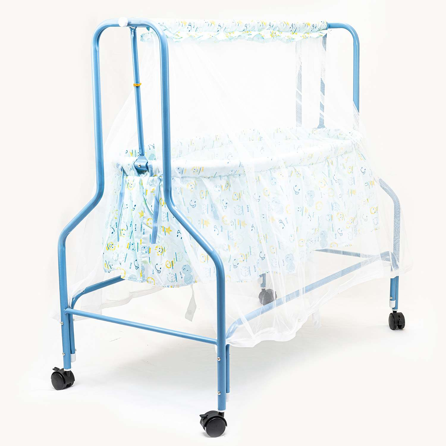 Blue Cradle With Mosquito Net For Baby 1
