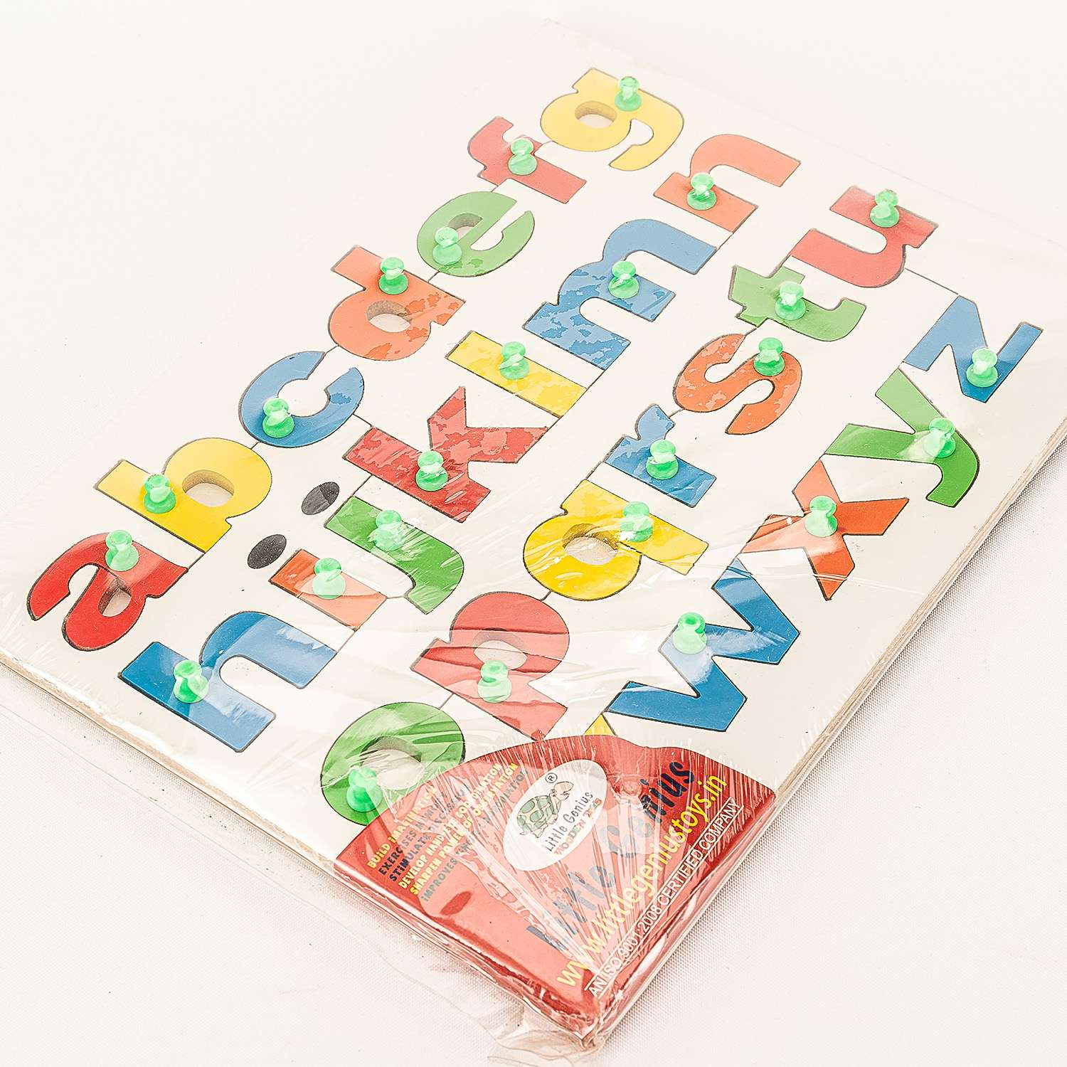 Multicolored Wooden English Small Letters Alphabets 3