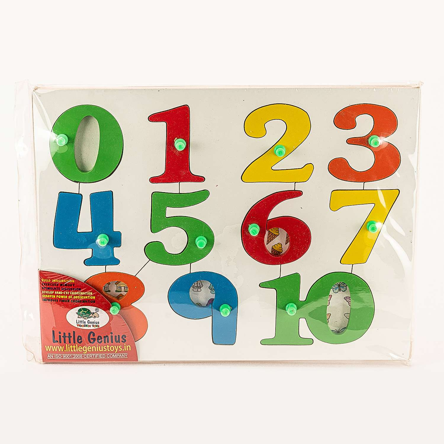 Multicolored Wooden Numbers 1