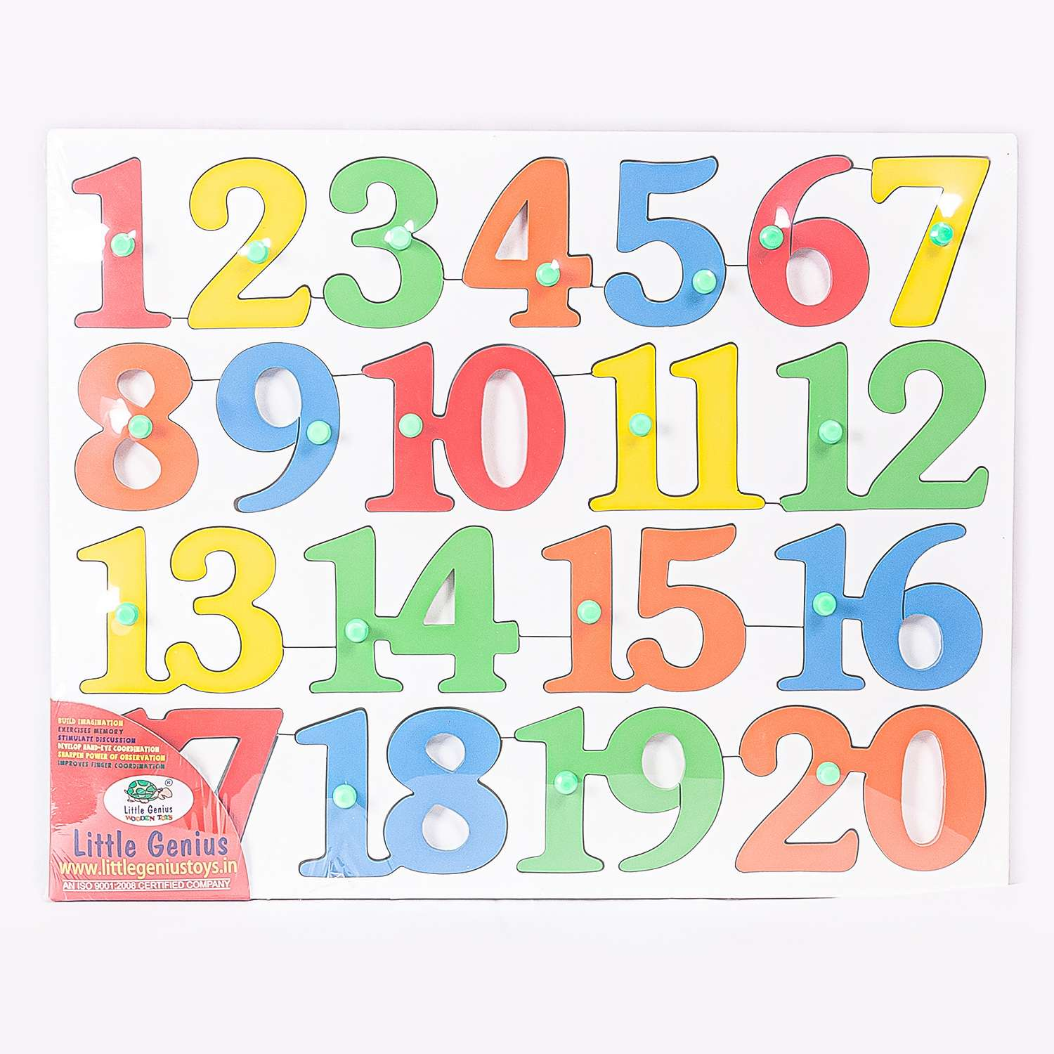 Wooden Numbers 1